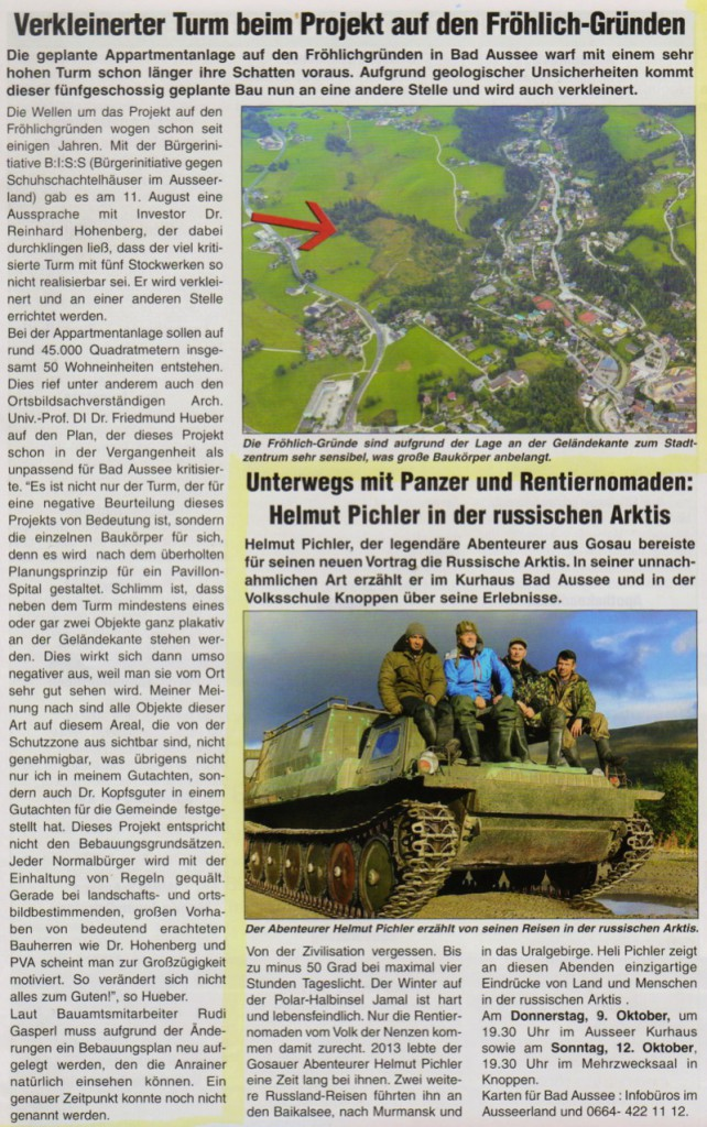 Artikel Alpenpost 2.10.2014